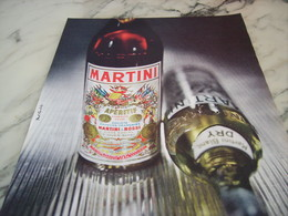 ANCIENNE PUBLICITE MARTINI APERITIF 1960 - Alcools