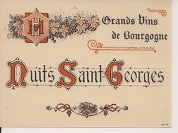 GRANDS VINS DE  BOURGOGNE  NUITS SAINT-GEORGES  HM  (1) - Bourgogne