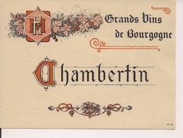GRANDS VINS DE  BOURGOGNE  CHAMBERTIN  HM  (1) - Bourgogne