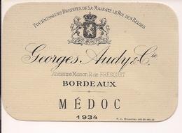 GEORGES AUDY & CIE BORDEAUX MEDOC  1934  HM  (1) - Bordeaux