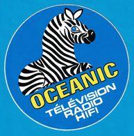 AUTOCOLLANT OCEANNIC TELEVISION RADIO HIFI - Autocollants