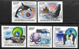 BURUNDI N° 1612/15 BF 242 * * NON DENTELE Destruction De L Ozone En Antarctique Phoque Pingouin Baleine Orque Pieuvre - Klima & Meteorologie