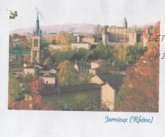 JARNIOUX 69 RHONE - EGLISE, VILLAGE, CHATEAU - PAP ENTIER POSTAL 2008 - VOIR LES SCANNERS - Vacances & Tourisme