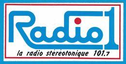 AUTOCOLLANT RADIO 1 LA RADIO STEREOTONIQUE 101.7 - Autocollants