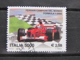 *ITALIA* USATI 2001 - FERRARI CAMPIONE F1 - SASSONE 2525 - LUSSO/FIOR DI STAMPA - 6. 1946-.. Repubblica