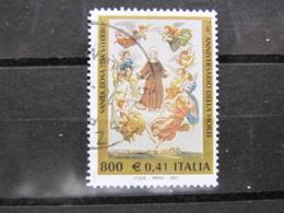 *ITALIA* USATI 2001 - 750° SANTA ROSA - SASSONE 2524 - LUSSO/FIOR DI STAMPA - 6. 1946-.. Repubblica