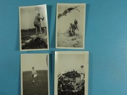 8 Photos D'amateur De Knocke Pâques 1930 (Char De Voyage, Les Gendarmes, Un Géant, Les Magistrats...) - Lieux