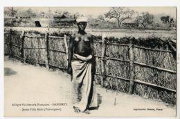 Af051 Benin Ethnic Nude 1910s Jeune Fille MAHI PAHOUIGNAN Seins Nus A.O.F Dahomey à BECH Institutrice St Chamas - Benin