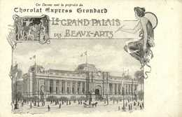 Illustrateur Style Art Nouveau Chocolat Express Grondard Le GRAND PALAIS Des BEAUX ARTS  RV - Publicité