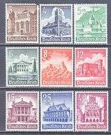 GERMANY  B 177-85   *  BUILDINGS  &  CASTLES - Unused Stamps
