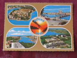 Croacia Unused Postcard Zadar Zadra Multiview Church Panorama Coast - Croatie