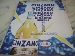 ANCIENNE PUBLICITE APERITIF BLANC   CINZANO 1960 - Alcools