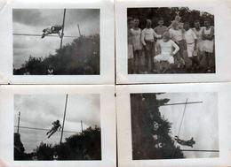 4 Très Petites Photos Originales Athlétisme Et Saut à La Perche Vers 1930/40 - Saut En Hauteur Et III Reich - Sports