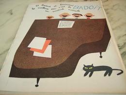 ANCIENNE PUBLICITE EAU MINERALE NATURELLE  BADOIT 1960 - Autres Collections