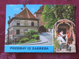 Croacia Unused Postcard Zagreb House Traditional Costumes - Croatie