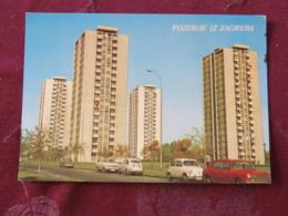 Croacia Unused Postcard Zagreb Buildings Cars - Croatie