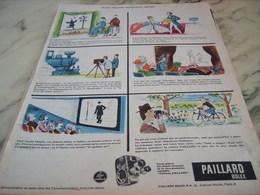ANCIENNE PUBLICITE PETIT PROGRES  CAMERA LA BOLEX DE PAILLARD   1960 - Photographie
