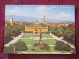 Croacia Unused Postcard Zagreb Theatre Park - Croatie