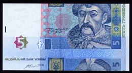 UKRAINE 5 HRYVEN 2015 GONTAREVA CUT ERROR Pick 118e Unc - Ukraine