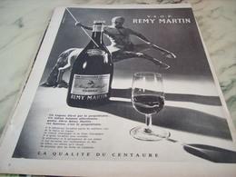 ANCIENNE PUBLICITE FINE CHAMPAGNE COGNAC REMY MARTIN 1960 - Alcools