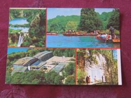 Croacia Unused Postcard Zagreb Multiview Coast River Boats Waterfall - Croatie