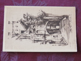 Croacia Unused Postcard Zagreb Street Gate Drawing - Croatie