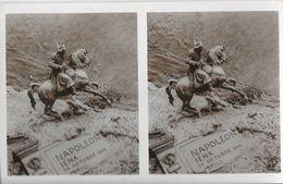 Bas-relief Doménico Mastroïanni: Napoléon Iéna 14 Octobre 1806 - Carte-photo Stéréoscopique Non Circulée - Sculptures