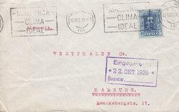 Spain Slogan Flamme 'Clima Ideal' TMS Cds. MALLORCA 1928 Cover Letra HAMBURG Germany 40c. Alphonse XIII. - 1889-1931 Reino: Alfonso XIII