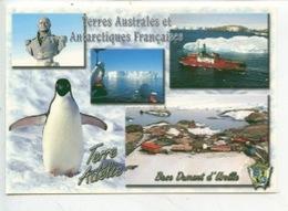 Terre Adélie Terres Australes Antarctiques Françaises, Base Dumont D'Urville - Blason Statue Buste  Astrolabe Manchot... - TAAF : Terres Australes Antarctiques Françaises