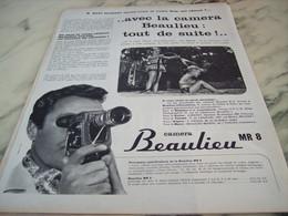 ANCIENNE  PUBLICITE TOUT DE SUITE LA  BEAULIEU   1960 - Photographie