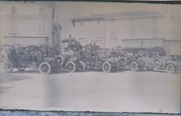 I51 - Ancienne Photographie Photo Négatif Sur Verre - Groupe D'automobiles Du Début De Siècle - Plaques De Verre