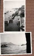 2 Photos Originales Inondations Et Pont Effondré Sur L'Embarcadère Köln-Düsseldorf - Cologne-Düsseldorf En 1943 - Lieux