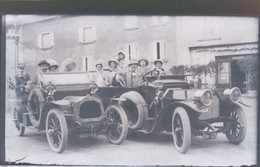 I51 - Ancienne Photographie Photo Négatif Sur Verre - Deux Belles Automobiles Du Début De Siècle En Gros Plan - Plaques De Verre