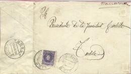 CARTA 1908  VICH A TUDELA    SOLO FRONTAL - 1889-1931 Reino: Alfonso XIII