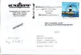 "BRD Schmuck-FDC ""Leuchttürme Brunsbüttel,"", Mi 2479 Selbstklebend  MWSt 13.6.2005 BÖBLINGEN (Vor-Ersttagsabstempelung !) - [7] République Fédérale"
