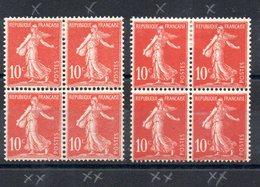 FRANCE - YT N° 134 + 134e X4 - Neufs */** - MH/MNH - Neufs