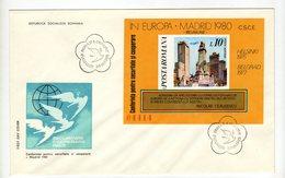 Enveloppe 1er Jour POSTA ROMANA ROUMANIE Oblitération BUCURESTI 30/09/1980 - FDC