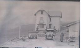 I51 - Ancienne Photographie Photo Négatif Sur Verre - Col Du Glandon - Savoie - Chalet -Automobiles - 13/08/1913 - Plaques De Verre