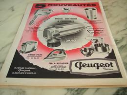 ANCIENNE PUBLICITE BOSSE ELECTRIQUE A CHAUSSURE PEUGEOT FRERE 1960 - Publicité