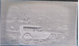 I51 - Ancienne Photographie Photo Négatif Sur Verre - Col De La Croix De Fer - Savoie -Automobiles - 13/08/1913 - Plaques De Verre
