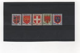 FRANCE    1949  Y.T. N° 834  à  838   NEUF*  Charnière - 1941-66 Armoiries Et Blasons