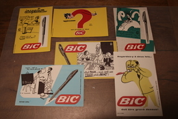 SERIE 6 BUVARD  STYLOS BIC - Collections, Lots & Séries