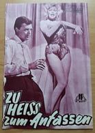 """Jayne Mansfield In """"Zu Heiß Zum Anfassen"""" Mit Karlheinz Böhm, Christopher Lee ... NFP-Filmprogramm Von 1960 /a69 - Magazines"""