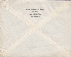 Spain WESTPHALEN Hnos., TMS Cds. BARCELONA 1928 Cover Letra HAMBURG Germany 40c. Alphonse XIII. - 1889-1931 Reino: Alfonso XIII