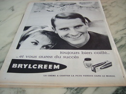 ANCIENNE PUBLICITE TOUJOURS BIEN COIFF AVEC BRYLCREEM 1960 - Parfums & Beauté