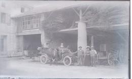 I51 - Ancienne Photographie Photo Négatif Sur Verre - Avant Le Départ En Voyage - Automobile - Plaques De Verre