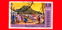 """VENEZUELA - 1966  - Danze Popolari - """"El Carite"""" Dance - 0.20 - Venezuela"""