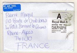 Enveloppe Avec Vignette D' Affranchissement GRANDE BRETAGNE Oblitération 06/02/2019 - Marcophilie
