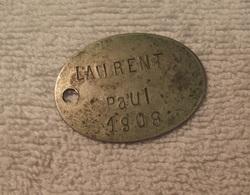 Plaque Identite - 1914-18