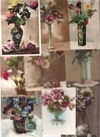 Lot De 70 Cartes Avec Des Vases Et Des Bouquets De Fleurs Période Art Nouveau à Art Déco 1900/1930 - Cartes Postales